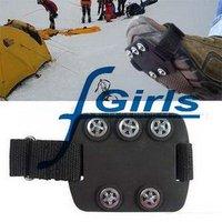 Black Anti Slip Pad Ground Grips SHOE TREADS,Ice/Snow Crampons Cleats Shoes Grip,non slip ice treads(NO.B) ,100pcs/lot