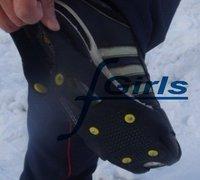 Black Anti Slip Pad Ground Grips SHOE TREADS,Ice/Snow Crampons Cleats Shoes Grip,non slip ice treads(NO.D),100pcs/lot