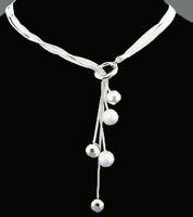 Free Shipping Can Custom Hand Made Fashion Jewelry  Silver-Filled Necklace BN0330