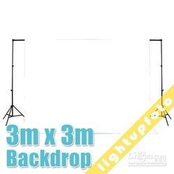 10ft x 10ft/3m x 3m White Photo Studio Solid Muslin Backdrop Background PSB2A(China (Mainland))