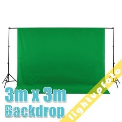 10ft x 10ft/3m x 3m Green Photo Studio Solid Muslin Backdrop Background PSB3A(China (Mainland))