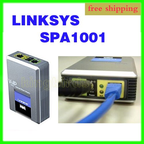 UNLOCKED Linksys SPA1001 one FXS VoIP Phone Adapter New WHOLESALE(China (Mainland))