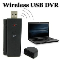 Freeshipping+wholesale and detail+Wireless USB DVR Support 4-channel 2.4GHz Wireless Video and Audio