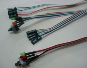 Lighted power switch cable. Chassis switch power cord. Reboot switch line With power, HDD LED