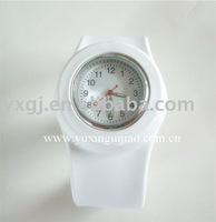 lily-white  silicone slap  watch
