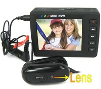 FREESHIPPING+wholesale and detail+2.5 Inch LCD Screen Micro DVR with 1/3 Inch CMOS Camera