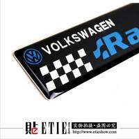 VW racing Aluminum gel Car logo vinyl sticker/Support custom/Turned the agency/More MOQ more discount