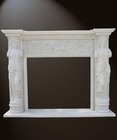 Figure sculpture fireplace/marble sculpture fireplace/carving fireplace