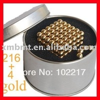 FREE SHIPPING! 12 pcs/lot  5mm GOLD Neo Cube neocube Magnetic balls / SGS approved