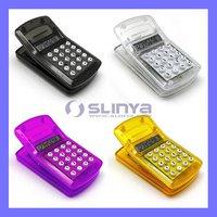 Mini pocket calculator Magnetic clip calculator