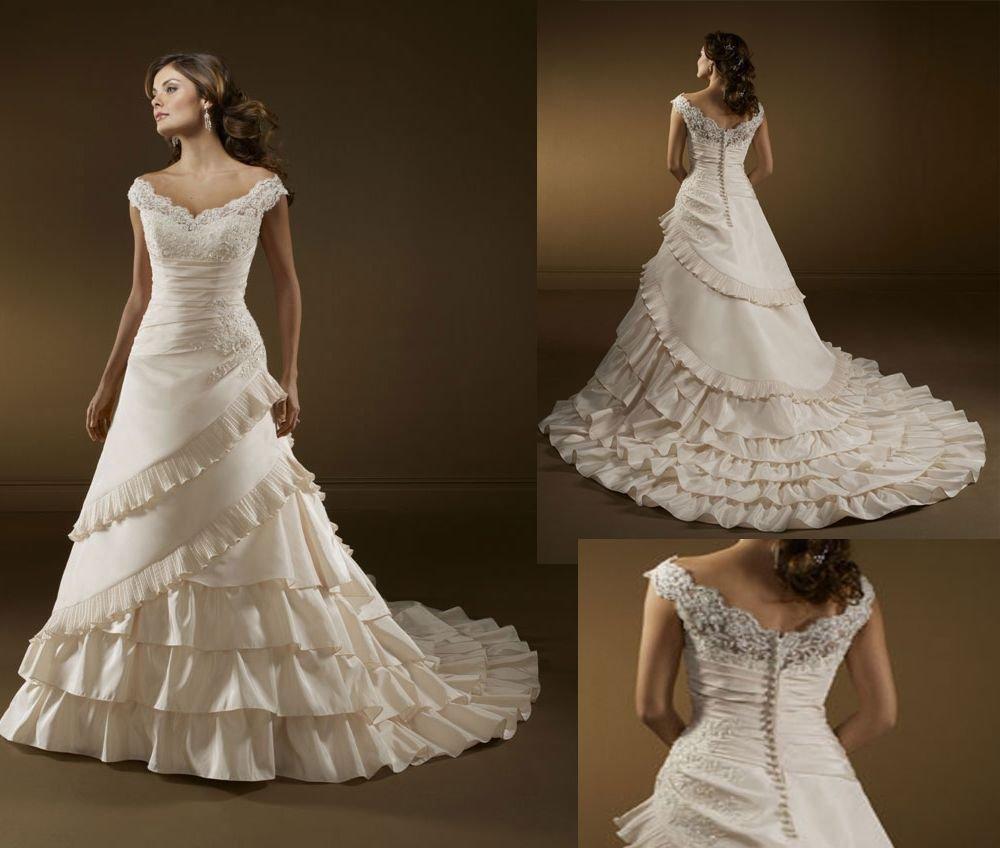 SV2296 FRETE GRÁTIS! VENDA QUENTE! camadas elegante vestido de noiva, vestido de noiva(China (Mainland))