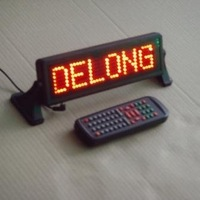 12V 7X35pixel red moving car led sign for scrolling message with remote control,free shipping to USA and Canada