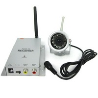 Wholesale and retail+Guaranteed 100% +Wireless Weather Proof Color Video Camera + Wireless Transmitter