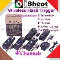 30m iShoot Pro Studio Wireless Radio Remote Flash Trigger PT-04 A -5 RX