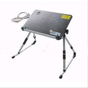Free shipping retail folding aluminum alloy laptop desk/ adjustable height laptop desk/ portable laptop table/ notebook desk(China (Mainland))