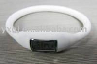 white silicone ion watch
