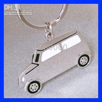 KEY CHAiN K100 10 PCS NEW Model CAR WHITE KEYRING KEYFOB