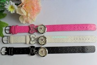Cute Hello Kitty Watches with leather watchband in many colors 50pcs/lot+Free shipping