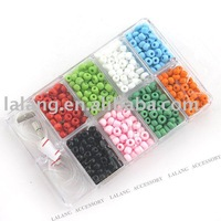 Fantastic Eight Colors Round Plastic Beads Fit Jewelry DIY Within a Box 4mm 110083 3boxes/lot