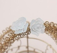 Free shipping Ladies&amp;#39; fashion delicate earrings, Beautiful beautiful colorful flower earrings, (10 pairs/ lot)