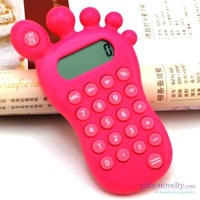 20pcs/lot High Quality foot finger shaped calculator novelty calculator blue color EMS OR FEDEX Free