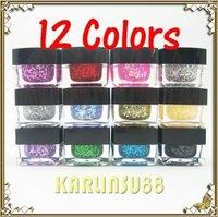 FREE SHIPPING 12 Mix Colors Glitter UV Builder Gel Nail Art 8ml Set K179