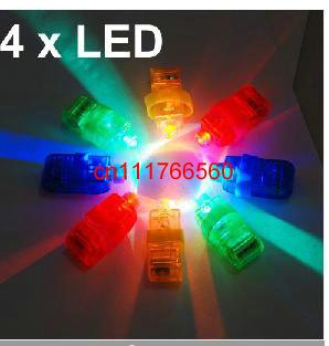 200sets/lot 4x Color LED Bright Finger Ring Lights Rave Glow Party(China (Mainland))