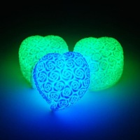 Wholesal 20pcs best selling New Arrival Romantic Heart Shaped LED Night Light 7 Color Changing, Best Festival Gift free shipping
