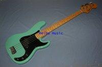 Free shipping  4 string BASS guitar Green Color  guitar basses