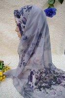 1226tc186-2 shawls islam chiffon shawl fashionable long hijabs muslim scarves
