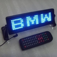 12V 7X35pixel indoor led auto logo sign with remote control,support English,Russian and Spanish,free shipping to USA and Canada