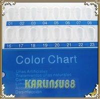 FREE SHIPPING 5X Color Display Chart Nail Art Acrylic UV Pedicure Polish K219