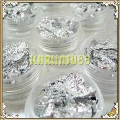 FREE SHIPPING Silver Soft Foil Paillette Nail Art Decoration Glitter K266(China (Mainland))