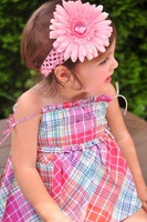 girls hair bows hair band headband satin crochet headband with flowers many colors can mix 100pcs/lot