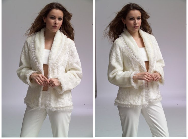 feedback for New Year lace jacket women's special offer white color fur coats(China (Mainland))