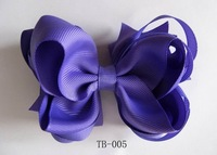 "4.5"" Girl hair bows attached clip Hair Accessories Baby hair bows Baby hairs clip grosgrain ribbon bows many colors can mix"