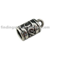 FREE SHIPPING 350 Tibetan silver end cap for 4mm leather cord A11325