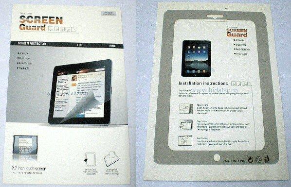 For iPad Anti Glare Fingerprint Screen Protector Screen Guard 50pcs/lot DHL free shipping(China (Mainland))