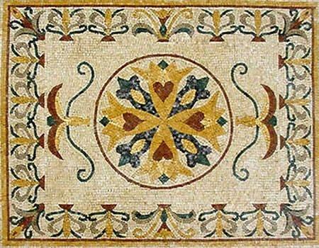 How to Make Tile Mosaics & Patterns : Adhering Mosaic