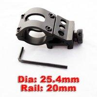 Wholesale - 10pcs/lot ULTIMATE ARMS GEAR LIGHT LASER FLASHLIGHT RING WEAVER RAIL SIDE MOUNT 25.4MM DIA 20MM RAIL