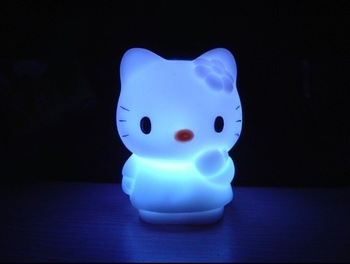 Free shipping Wholesale Valentine's Gifts LED Flashing Lovely Cat Light 1pc/box 50pcs/lot Fast delivery