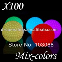 Wholesale 100 High Quality Cute Flashing Golf Ball LED Golf Balls For Valentine's Day DHL/UPS SHIPPING