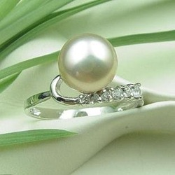 925 Silver Jewelry, Fashion, Classic Jewelry Natural Pearl Ring ,Enjoy Retail Convenience at Wholesale Price(China (Mainland))