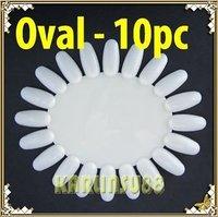 FREE SHIPPING 10x Oval Nail Art Display Practice Wheel Hard Durable K384