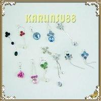 FREE SHIPPING 12 Nail Art Decoration Dangles Charms w/ Rhinestones K403