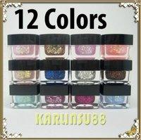 FREE SHIPPING 12x Mix Colors Glitter UV Builder Gel Nail Art 8ml K409
