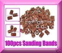 FREE SHIPPING 100 x 60/120 SANDING BANDS Nail Drill Bits File Tool 71