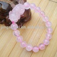 wholesale  natural crystal bracelet/rose quartz