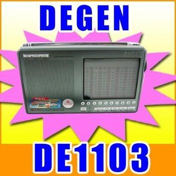 FREE SHIPPING DEGEN DE1103 PLL DIGITAL AM LM SW SSB Shortwave Radio