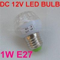 DC 12V 1W 15LEDs E27 80lm white LED bulb best for Solar Panel(12v solar light system) FREE SHIPPING